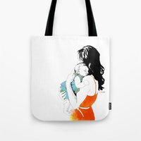 mother Tote Bags featuring Mother by la belette rose
