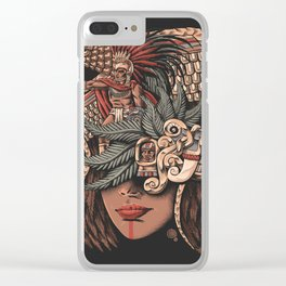 Aztec Eagle Warrior Clear iPhone Case