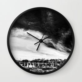 Apalachicola Oyster Mtn. Marina Wall Clock