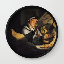 Rembrandt - The Parable of the Rich Fool Wall Clock