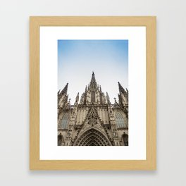 Catedral Basilica de Barcelona Framed Art Print