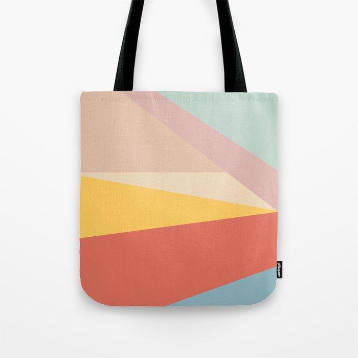 Retro Abstract Geometric Tote Bag