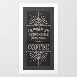 Coffee Responsibly // Vertical Art Print