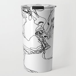 kiss more often (B & W) Travel Mug
