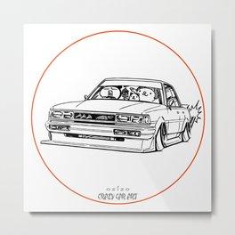 Crazy Car Art 0209 Metal Print