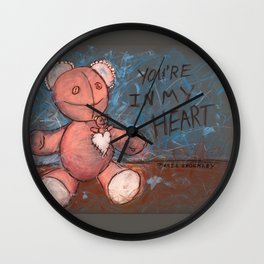 YOU'RE IN MY HEART Wall Clock