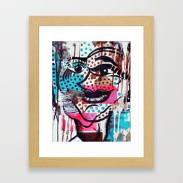 The Dynamic Expressions of Lucy  Framed Art Print