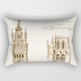 Design Proposal for the Washington Monument, Washington D.C. Rectangular Pillow