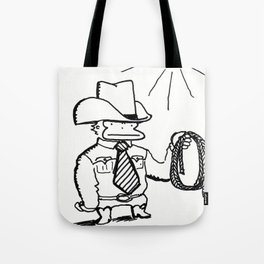Cowboy Ape with Giant Tie Tote Bag