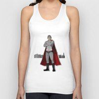 obama Tank Tops featuring Obama by MJOillustration