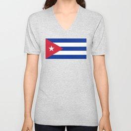 National flag of Cuba - Authentic HQ version Unisex V-Neck