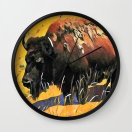 Muddy Buffalo Wall Clock