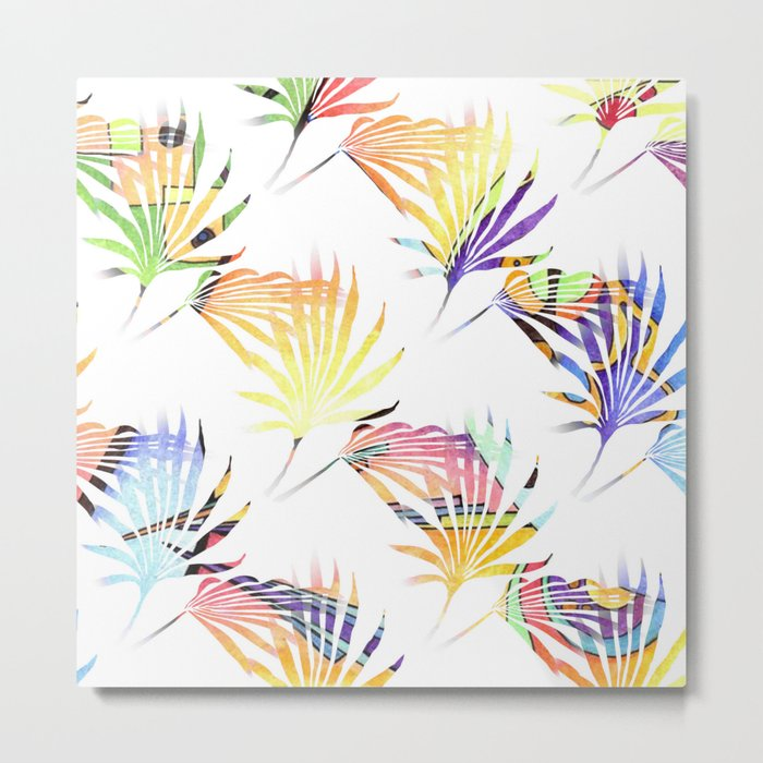 Vibrant Jungle Palmetto Fronds Metal Print