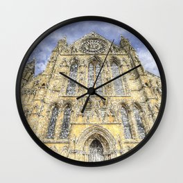 York Minster Cathedral Snow Art Wall Clock
