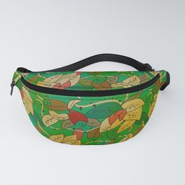 Floral, blood and thorn pattern Fanny Pack