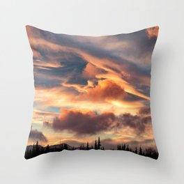 Good Morning Anchorage, Alaska Throw Pillow