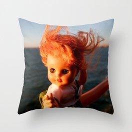 Ferry Girl Throw Pillow