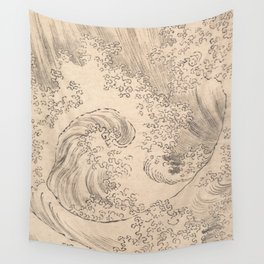 Wave by Katsushika Hokusai 1760–1849, Japanese Wall Tapestry