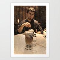 coffe Art Prints featuring Coffe break by DS' photoart