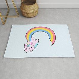 Kawaii proud rainbow cattycorn Rug