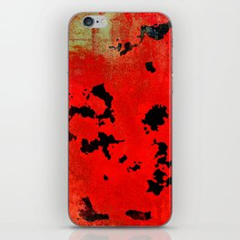 Red Modern Contemporary Abstract Textured Design iPhone Skin