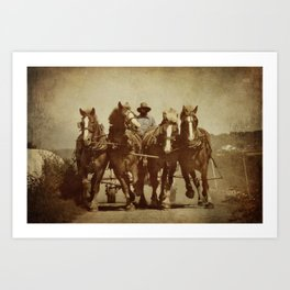 Team Of Horses Art Print