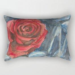 Water Color Rose Study  Rectangular Pillow