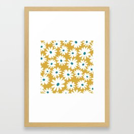 Daisies - Spring - Yellow Framed Art Print