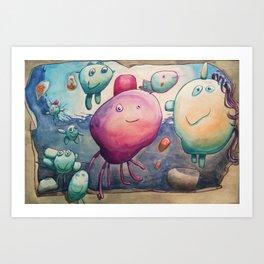 Happy Pushy Art Print