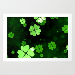 Shamrocks  St. Patrick's Day Art Print
