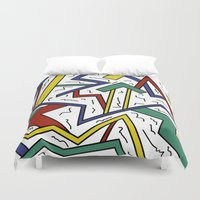 90s Duvet Covers featuring 90s or Bust by Cale potts Art