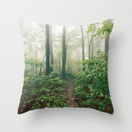 Smoky Mountain Forest Adventure - National Park Nature Photography Throw Pillow