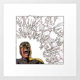 Ability to inflict papercuts with mind Art Print