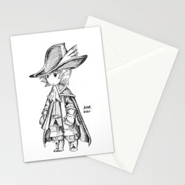 Red Mage - Black and White Stationery Cards