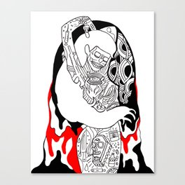 coldhearted bitch Canvas Print