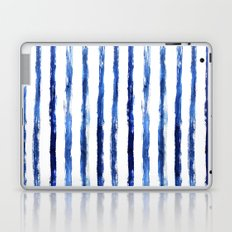Blue painted stripes Laptop & iPad Skin