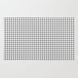 Grey Houndstooth Pattern Rug