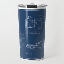 DMC DeLorean Blueprint Travel Mug