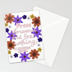 Press Forward And Fear Nothing I Stationery Cards