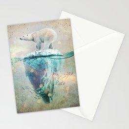 Polar Bear Adrift Stationery Cards