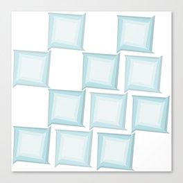 Spiral Squares Canvas Print