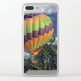 Balloon Landing Clear iPhone Case