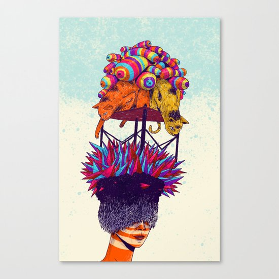 Full head Canvas Print