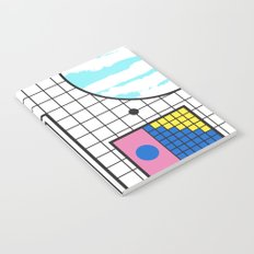 Memphis Retro Revival Collage Notebook