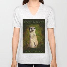 I am a model - a meerkat Unisex V-Neck