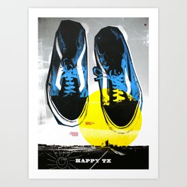 Happy Texas (Marcus' Vans) Art Print