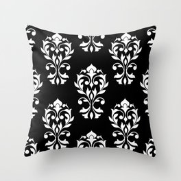 Heart Damask Pattern (B) WB Throw Pillow