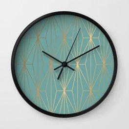 ELEGANT BLUE GOLD PATTERN Wall Clock