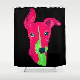 italian greyhound - blk Shower Curtain