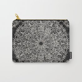 MANDALA ON BLACK MARBLE Carry-All Pouch